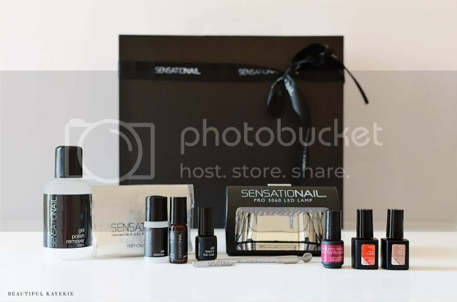 sensationail review swatches nail gel uv kit