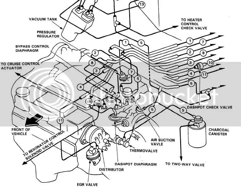 acura legend vacuum diagram