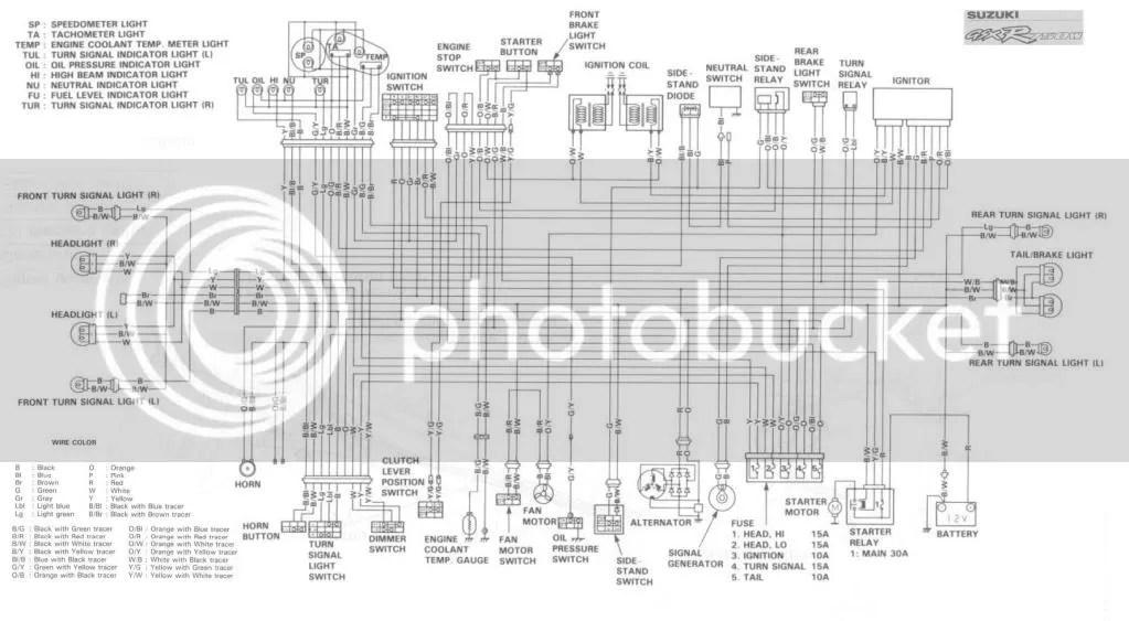 1992 suzuki gsxr 750 wiring diagram suzuki bandit wiring diagram