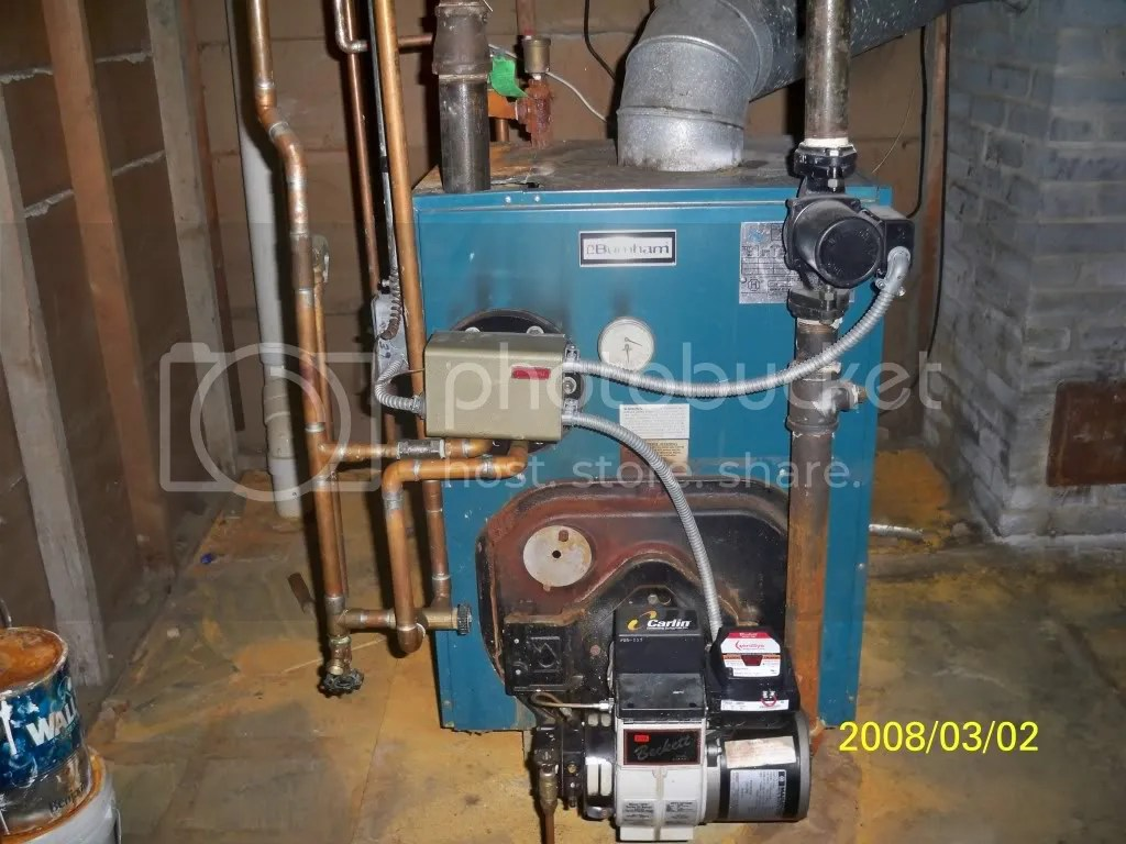 burnham boiler with broken pressure gauge