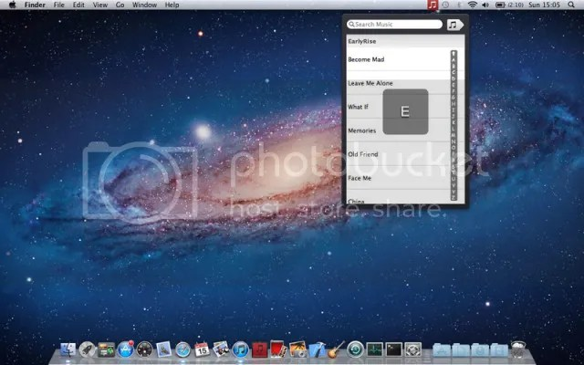 Control iTunes from Finder