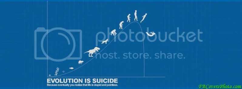 Evolution of Suicide Funny Cover