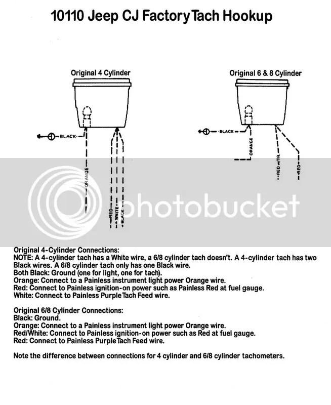 Jeep Cj Tachometer Wiring Wiring Diagram