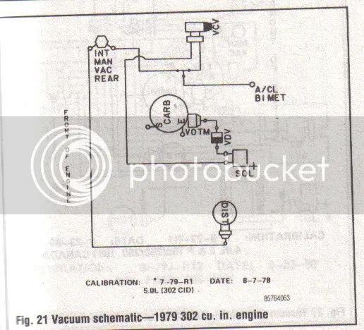 77 ford truck vacuum diagram