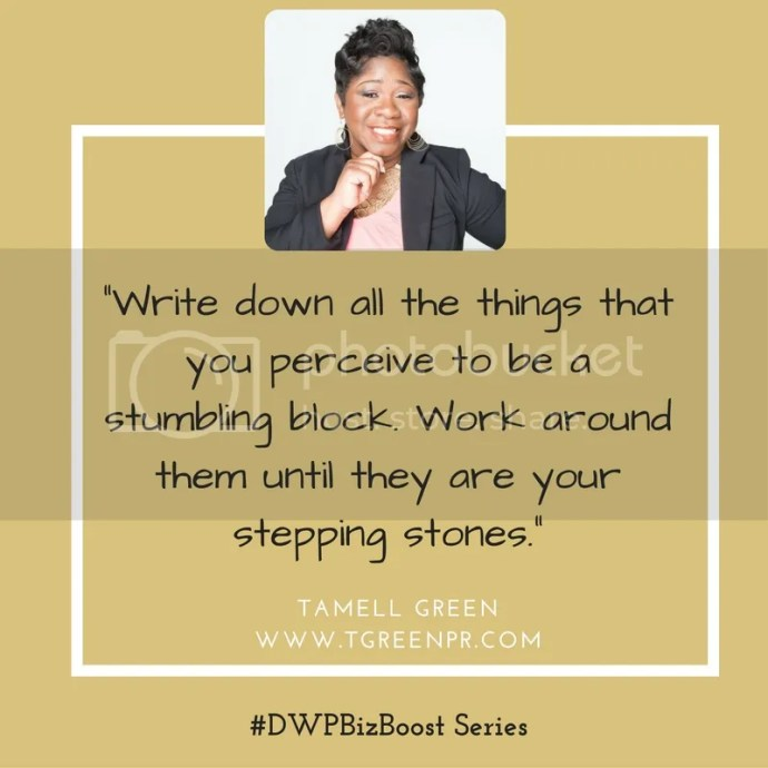 Female Enterpreneur Business Advice from Tamell Green