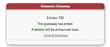 Oatworks-giveaway-winner