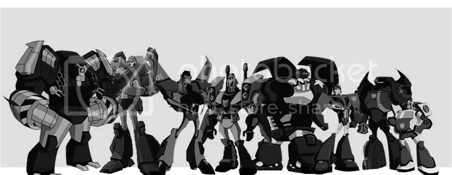 Transformers Animated Size Chart TFW2005 - The 2005 Boards