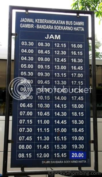 Jadwal Bus Damri Gambir - Bandara