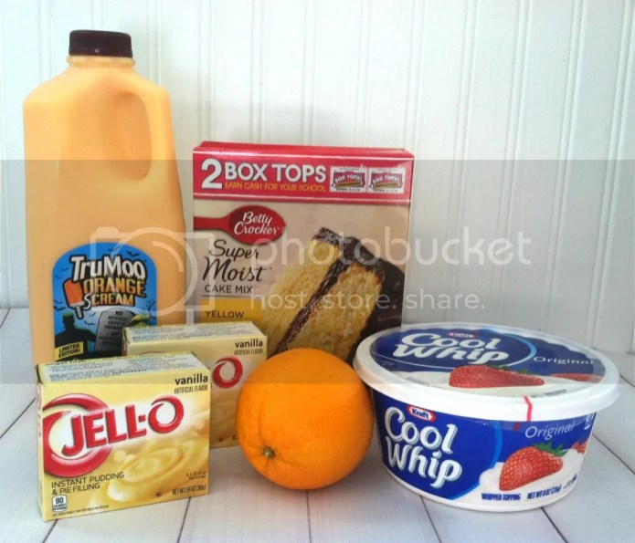 Orange Scream Poke Cake Ingredients
