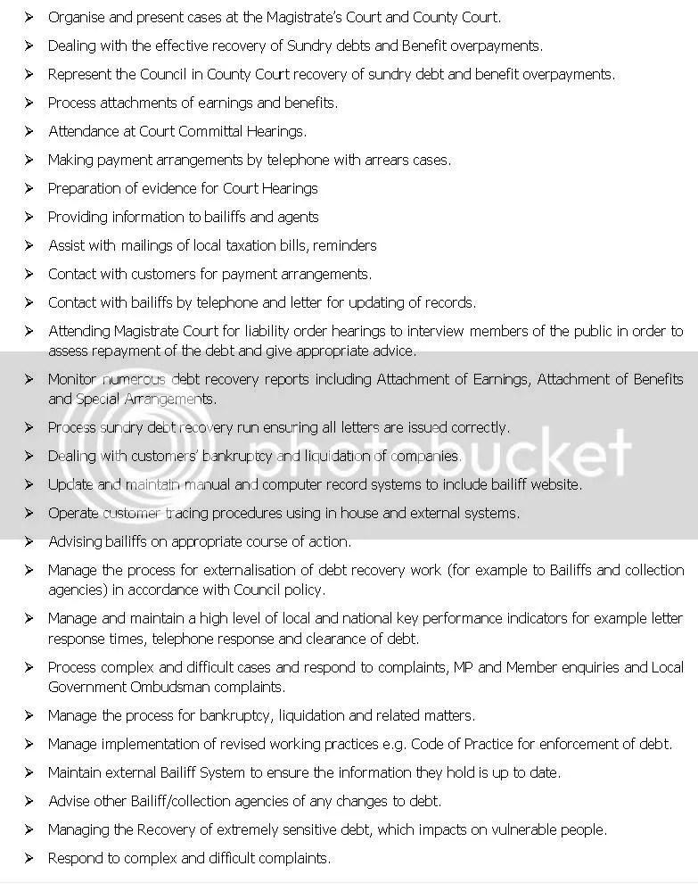 Council Tax Liability Order Applications Court Costs u2013 Test Case - debt collector job description