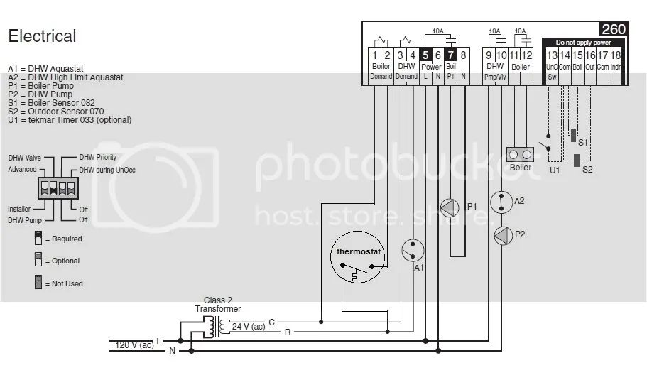 tekmar 132 wiring diagram