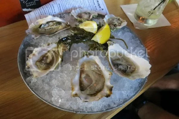 oysters on a half shell