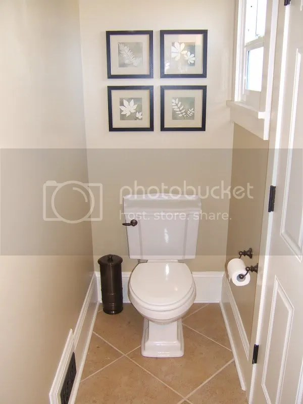 Finished Our Small Powder Room -- I Mean Small!