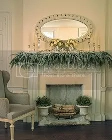 snow mantel