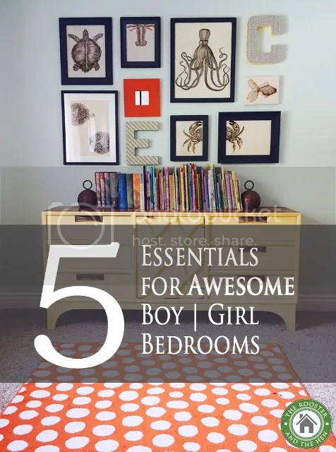 Five Essentials for awesome boy and girl bedrooms