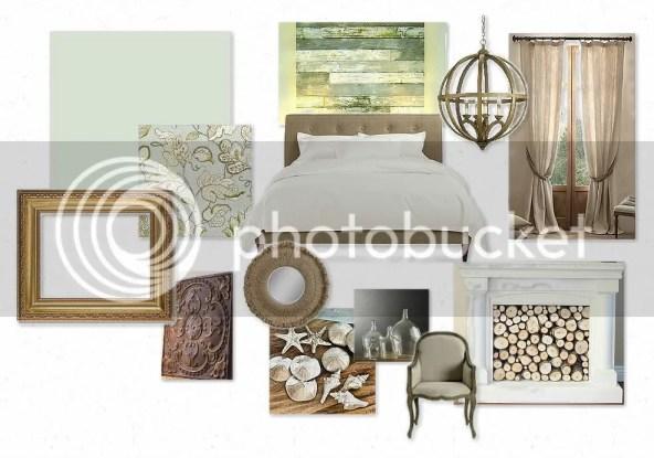mood board of master bedroom