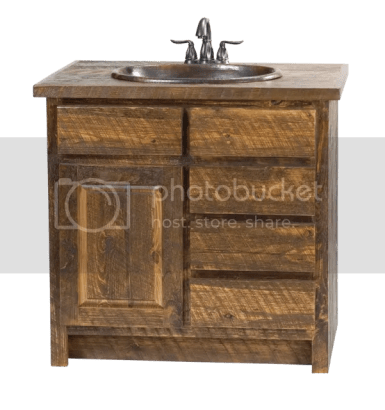 faux barn wood vanity