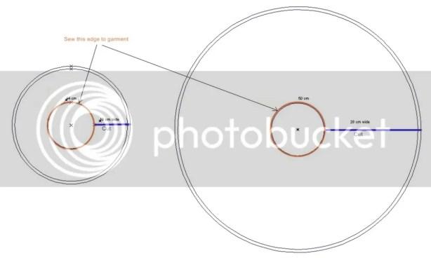 circular ruffles