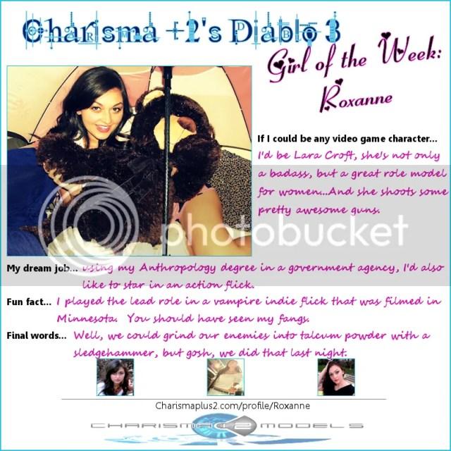 Charisma +2 Diablo 3 Girl of the Week: Roxanne