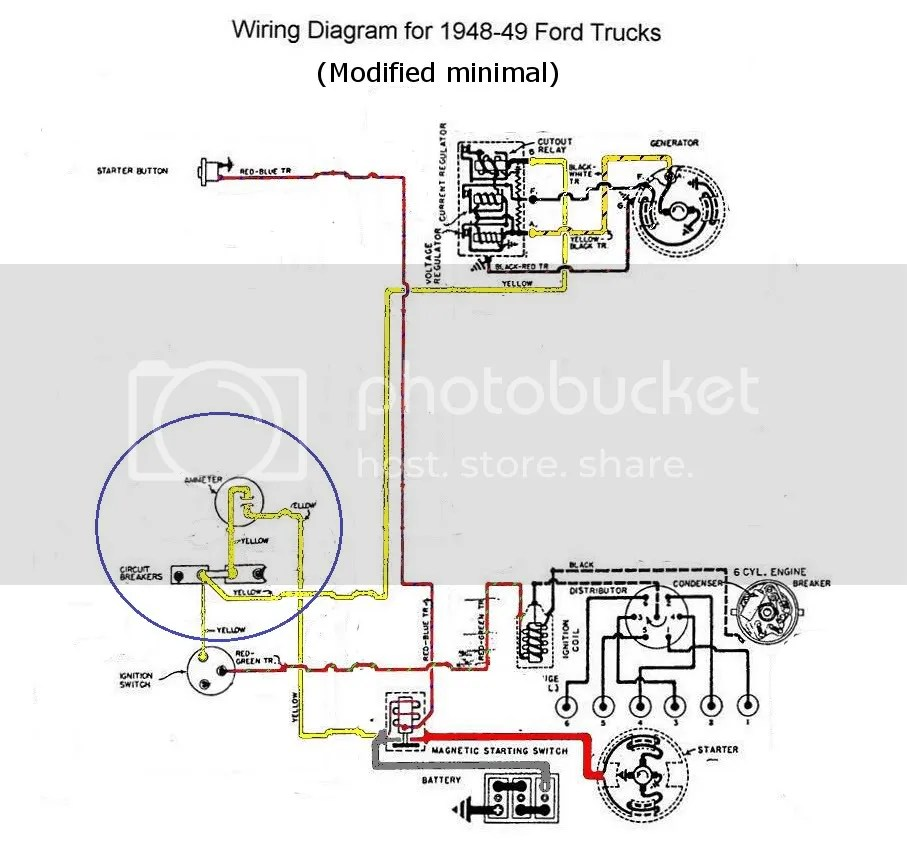 1949 Ford Wiring Schematic Control Cables  Wiring Diagram