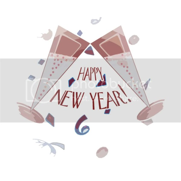 Happy New Year Toast Cheers Clip Art Free. 1024 x 1024.Animated Happy New Year Clipart Free