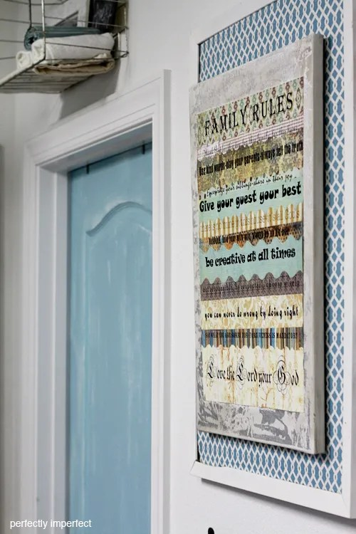FAMILY RULES ART DIY WALL ART PERFECTLY IMPERFECT FREE