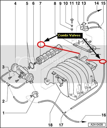 we start with a diagram of the 30 engine showing most of the vacuum