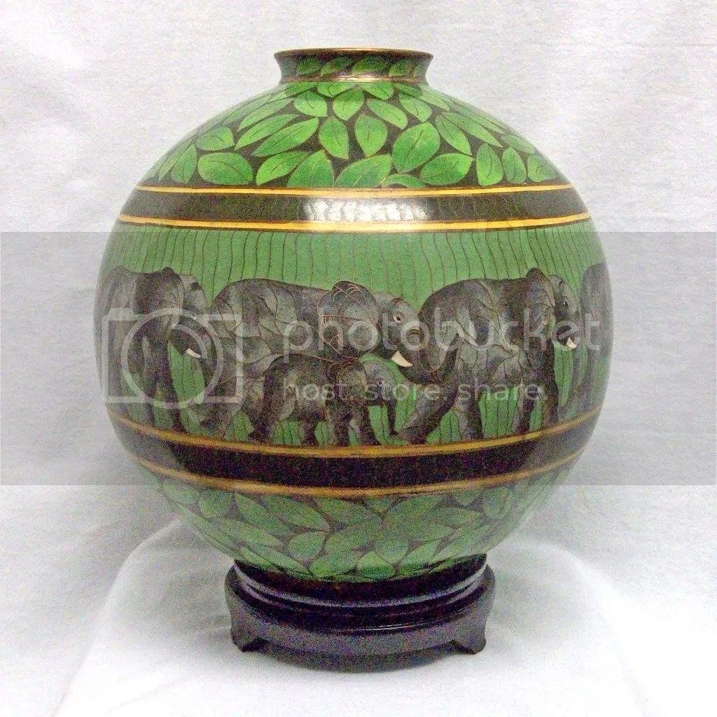 Unique Vases For Sale Rare Unique And Unusual Bronze Asian Cloisonne Elephant