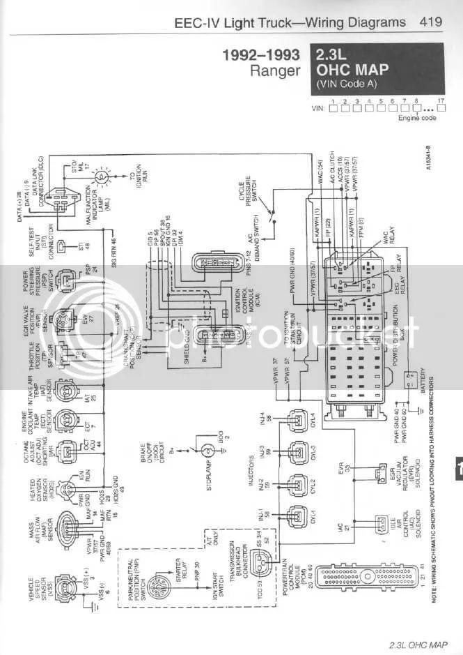 1992 ford ranger 3 0 v6 Motor diagram