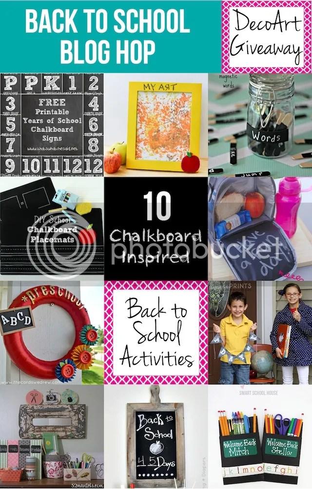 Back to School Blog Hop-10 Chalkboard Ideas - The Cards We Drew