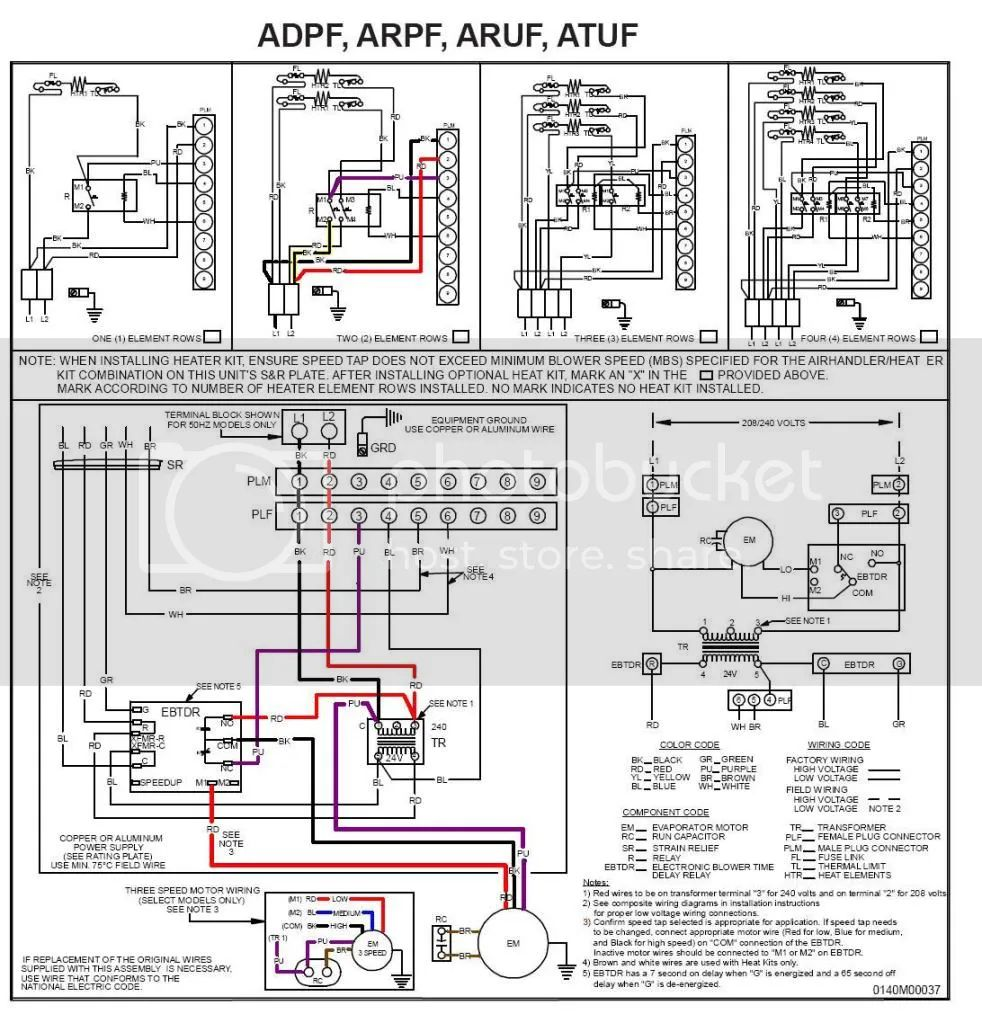 armstrong ac heat strip wiring