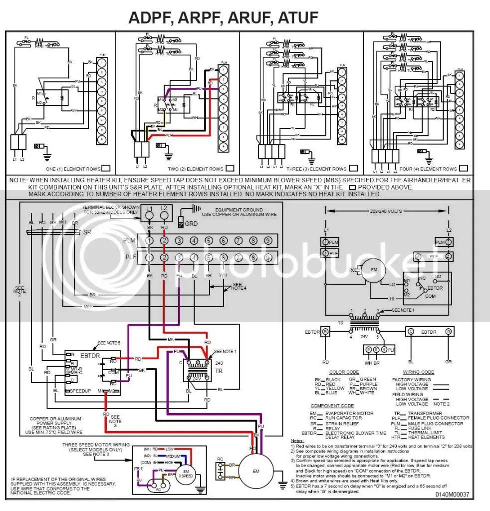 nordyne wiring diagrams heating strip