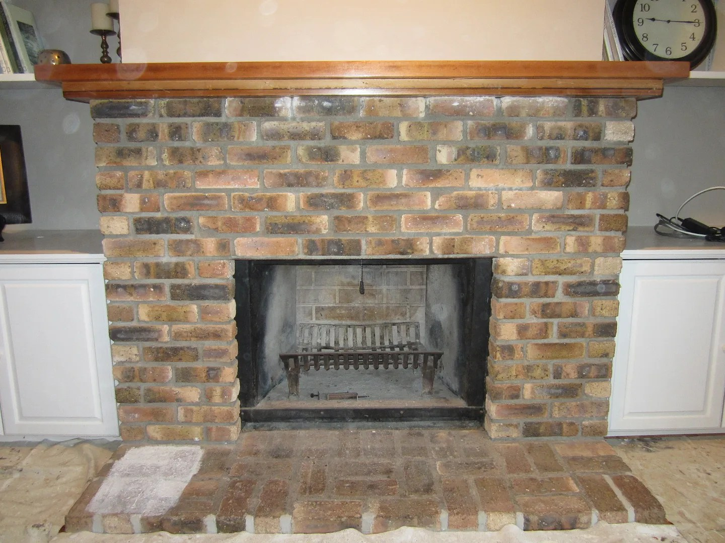 Whitewash Fireplace Before And After How To Whitewash A Fireplace Home Staging In Bloomington Illinois