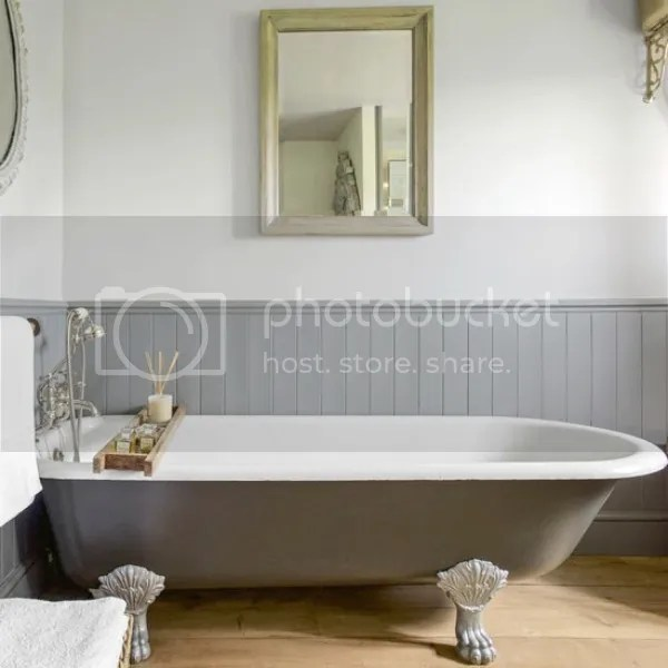 converted barn | bath with claw foot tub