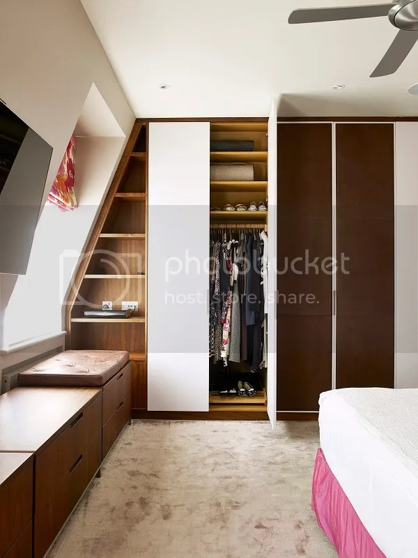 apartment in london | bedroom featuring built in storage