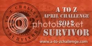 #ATOZCHALLENGE 2012 Survivor badge