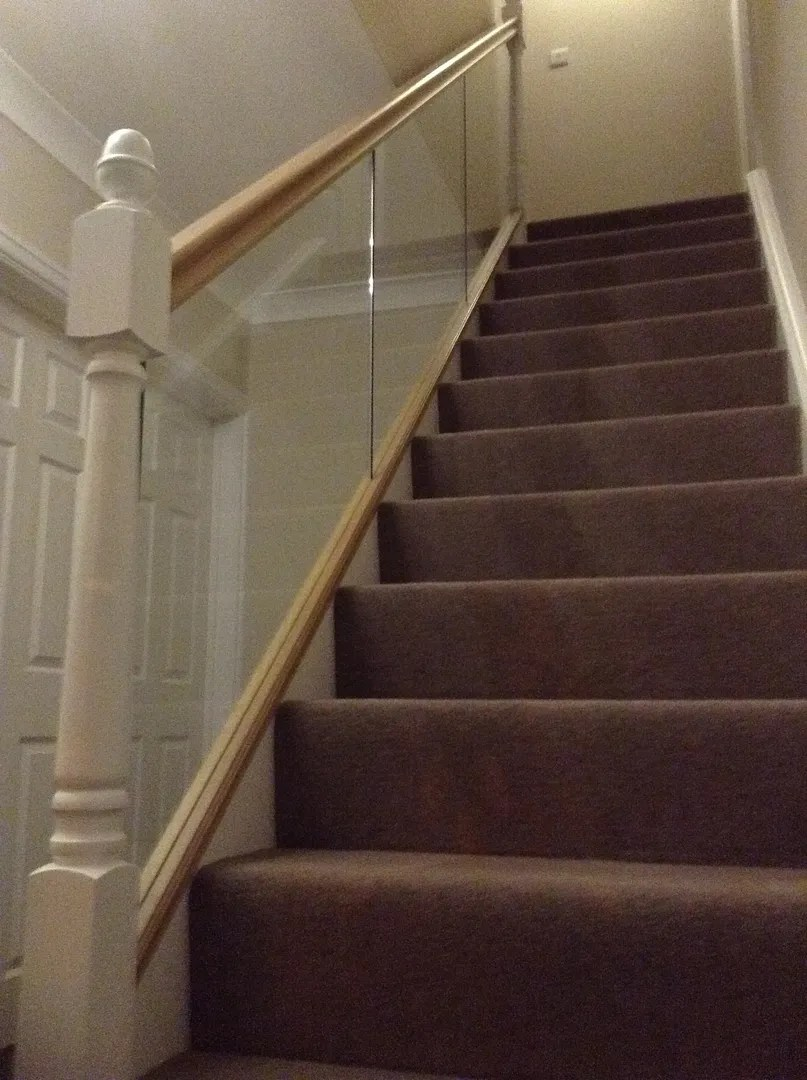 Paneled Staircase Glass Panel Staircase Lincoln
