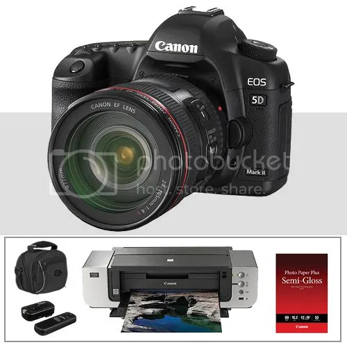 Canon EOS 5D Mark II with EF 24-105mm, Pro9000 Mark II And More Stuff For $2.200