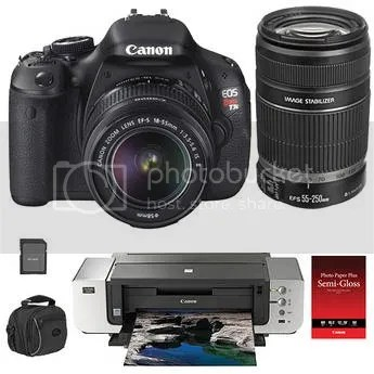 Deal: Rebel T3i/EOS 600D Kit With Two Lenses, Printer And More For $999