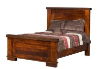 Amish Southwest Rustic Bed Solid Wood Furniture Monta ...