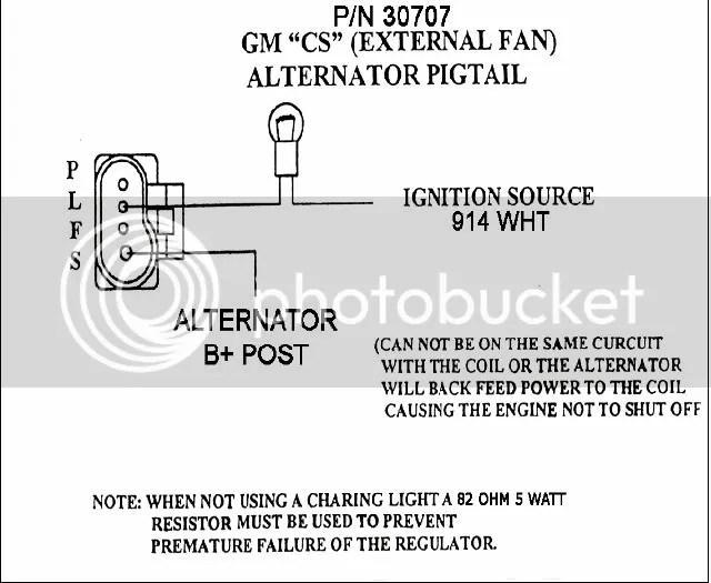 Cs130 One Wire Alternator Wiring Diagram Wiring Schematic Diagram