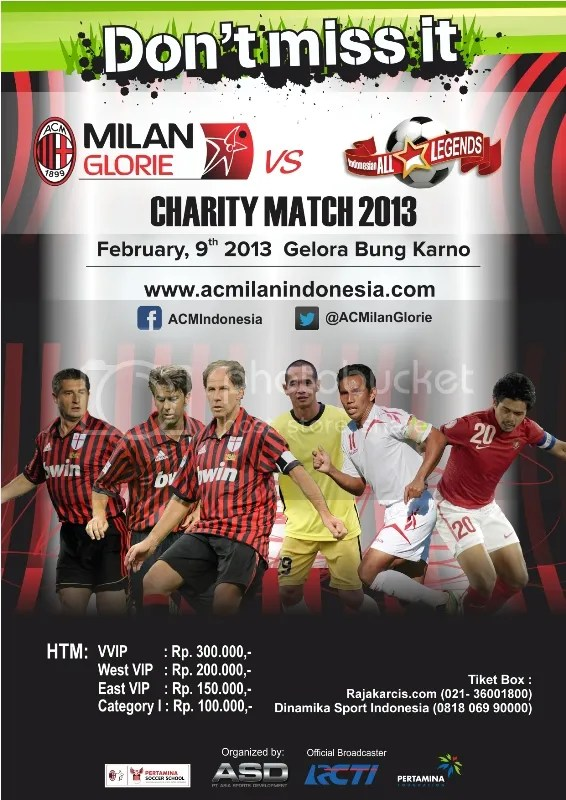 AC Milan Glorie vs Indonesia All Legends GBK 2013