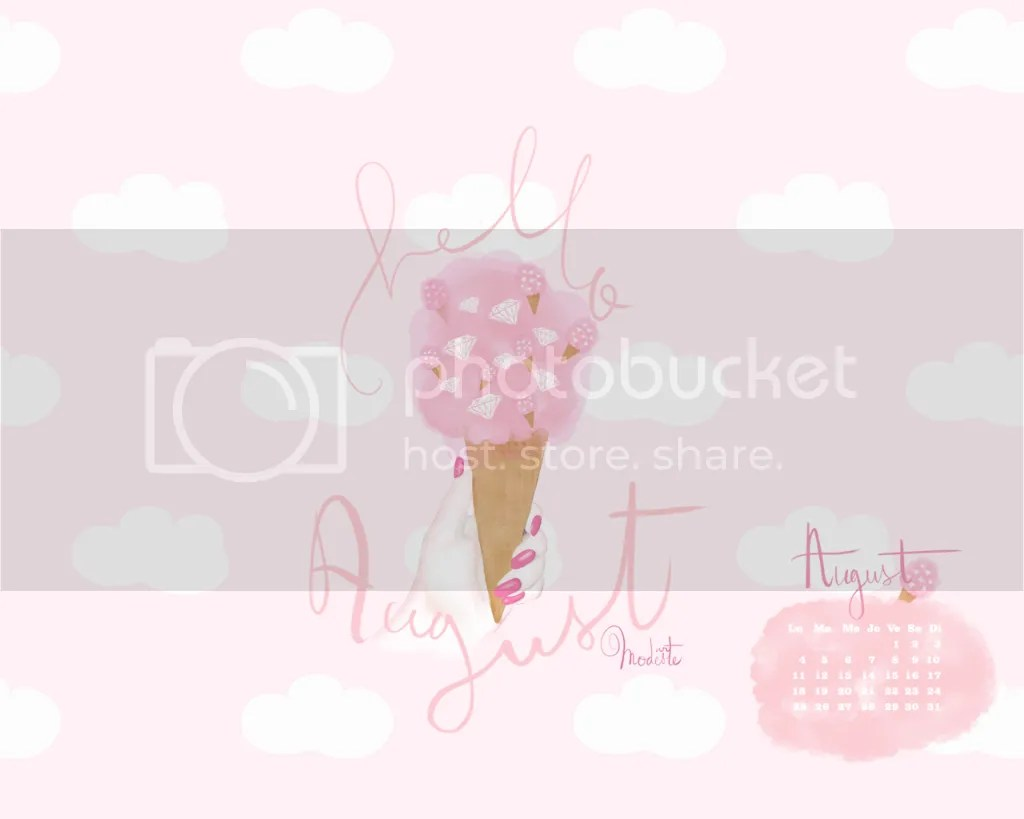 Super Cute Girly Wallpaper Projet Quot Summarockin Quot Fond D 233 Cran Quot Hello August Quot Et