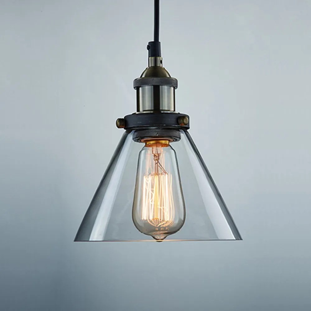 Industrial Hanging Lights Ecopower Industrial Edison Vintage Style 1-light Pendant