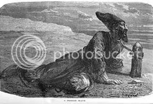 Budak Persia yang diikat, dalam sebuah gambar kuno