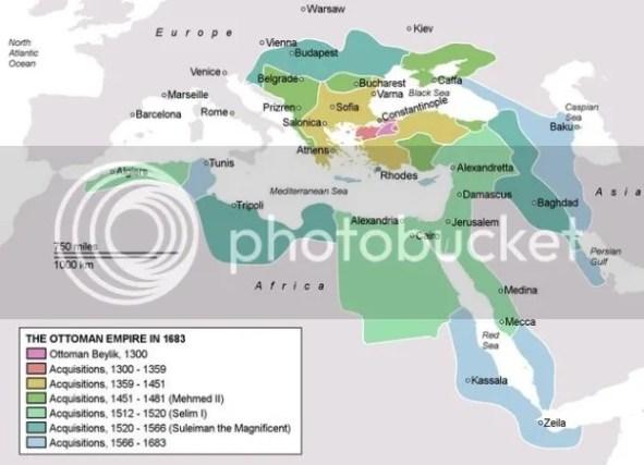 Wilayah Khilafah Islam pada tahun 1683