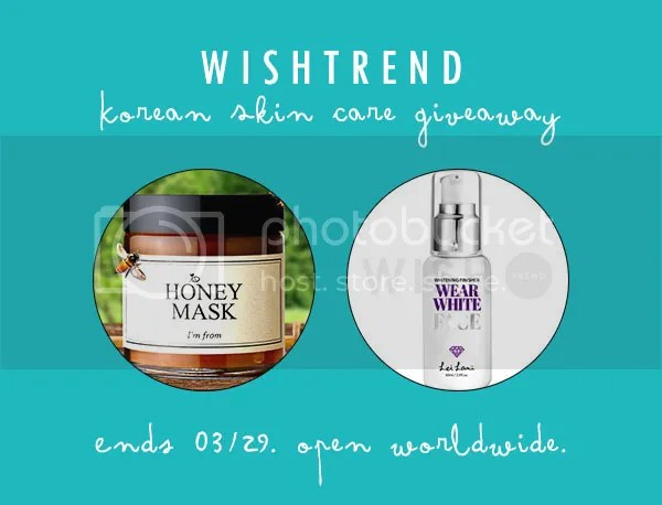 Wishtrend Korean Skin Care Giveaway