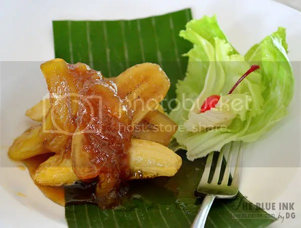 Minatamis na Saging - Delicious Native Dishes at L'Fisher Chalet Restaurant