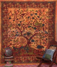 Tree Of Life Indian Tapestry Beach Sheet Hanging Wall Art ...