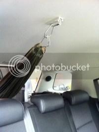 Suspension point in FJ Cruiser ceiling